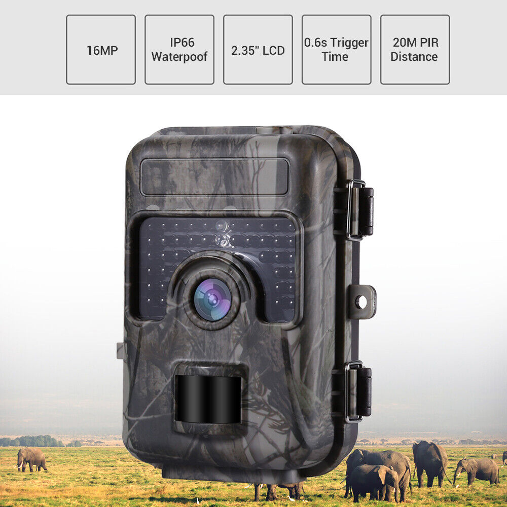 16MP 1080P Hunting Camera Home  Farm Scouting Night Vsion LED IP66 No Spy Hidden  hot sale online
