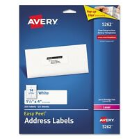 Avery Easy Peel Address Labels For Laser Printers - 5262