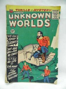 """Vintage Comic Unknown Worlds No.33 1964 """"Don't Judge Until You Hear My Story!"""""""