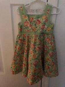 39c432c60 Saks Fifth Avenue girls 4T sleeveless dress floral flowers dressy ...
