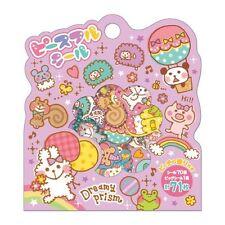 71X Kawaii Dreamy Doodle Animal Flake Stickers Sack Cute Japanese Stationery
