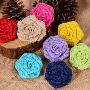 10-x-RUSTIC-FLOWER-ROSE-WEDDING-DECORATION-BURLAP-HESSIAN-JUTE-VINTAGE-DECOR