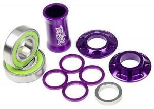 Purple Total BMX Team Mid Bottom Bracket Purple 19mm