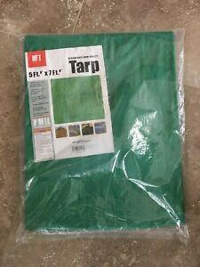Tarp HFT 5 ft. 6 in  x 7 ft. 6 in Green Medium Duty Farm Quality Factory Sealed