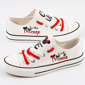 Mickey Mouse Shoes Unisex Minnie White