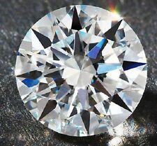 Round 15 mm 23 ct VVS G White Brilliant Lab Diamond Hearts & Arrows Solitaire