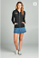 Distressed-Laser-Cut-Zip-Front-Long-Sleeve-Casual-French-Terry-Pocket-Hoodie-Top thumbnail 7