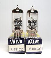 Pair of Valvo E88CC / 6922 / CCa Audio Preamp Tubes, Grey Plate, NOS