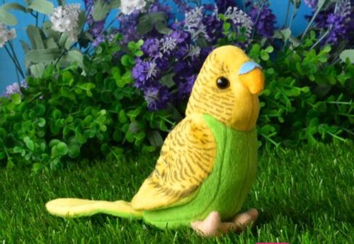 small cute plush parrot toy lovely green/&yellow bird doll gift about 12cm