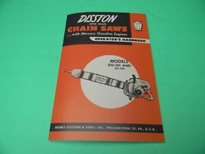 DISSTON-MODEL-DO-101-DO-101-DO-100-DO-100-CHAINSAW-OPERATOR-039-S-HANDBOOK-MANUAL