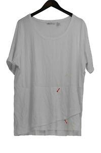 Isaac Mizrahi Live! Women's Plus Sz Top 2X Peplum Flounce White A303962