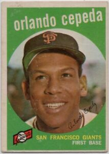 1959-Topps-390-Orlando-Cepeda-VG-VGEX-San-Francisco-Giants-FREE-SHIPPING