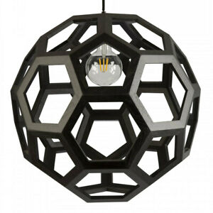 NEW Fiorentino Banega-50 Timber Hexagon Pendant Light
