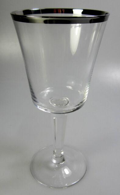 Lenox SOLITAIRE Water Goblet ~BARCLAY SHAPE ~ PLATINUM TRIM ~NEW~ s