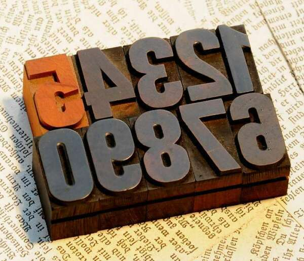 0-9 Zahlen 27mm Holzlettern Lettern Holzzahlen Ziffer Zahl Textildruck Stoff