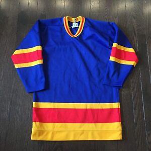 Vintage-Colorado-Rockies-NHL-Colours-Maska-Jersey-Youth-Size-XL-No-Logo