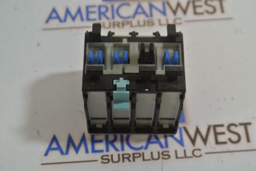 SIEMENS 3RH1921-1FA40 Auxiliary Switch Block 4S// 4NO NEW IN BOX