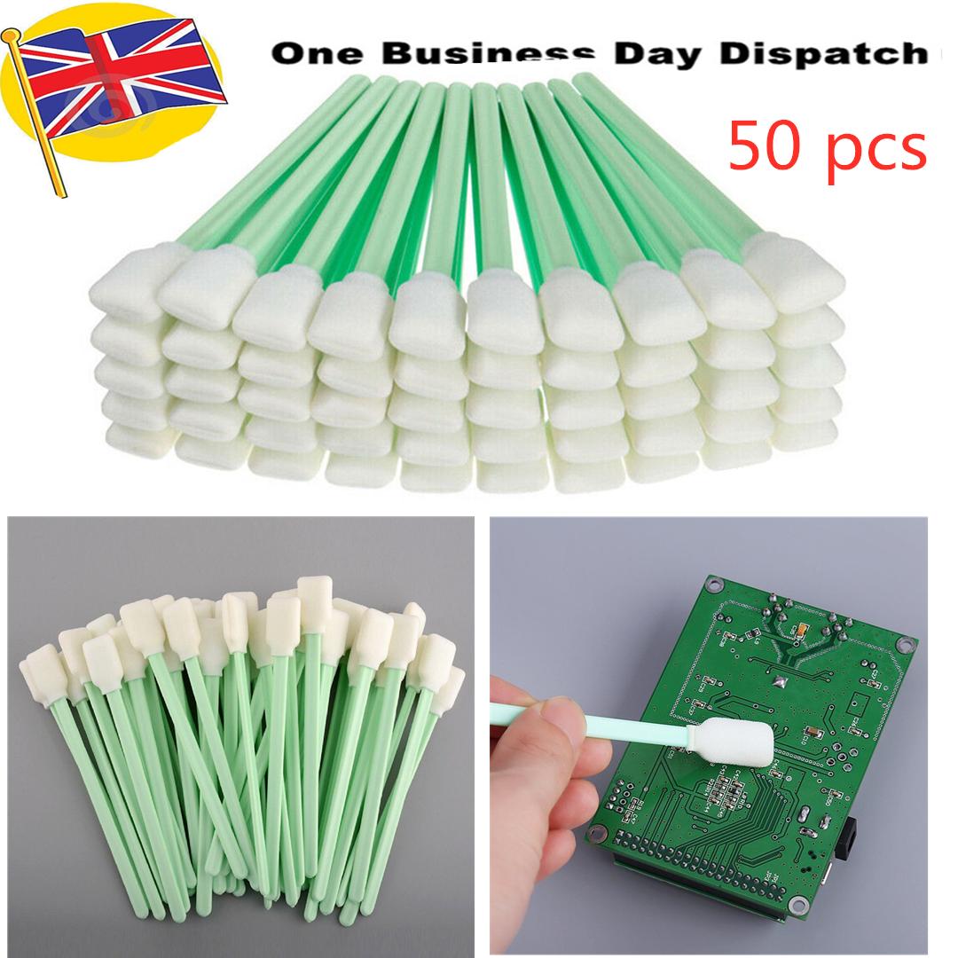 50pcs Sponge Sticks Swab Foam Cleaning Bud For Solvent Format Inkjet Printhead
