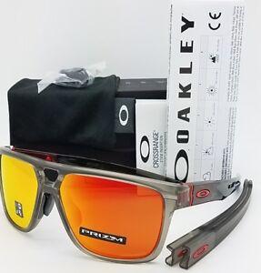 0fca1466ec Image is loading NEW-Oakley-Crossrange-Patch-sunglasses-Matte-Grey-Prizm-