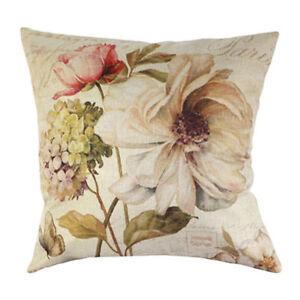 Vintage-Blumen-Blumenflachs-Dekoration-Gehaeuse-von-Kissen-Kissenbezug-Haus-OE