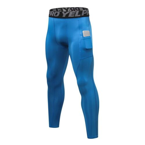 Men/'s Compression Sports Pocket Pants Trousers Quick Dry Fitness Running Tights
