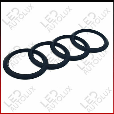 Car Logo Emblem Rear Trunk Adhesive Badge Ring for Audi 216x75mm Q3 Q5 Q7 A1 A6