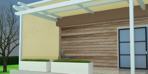 Shatex 90/% Sun Shade Fabric for Pergola Cover Porch Vertical Screen Beige