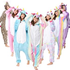 Pigiama kigurumi costume unicorn carnevale adulti cosplay animali tuta-party New