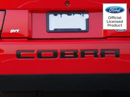 FORD LICENSED 2003-2004 MUSTANG COBRA LETTERS REAR BUMPER INSERTS VINYL DECALS