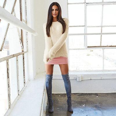 Women's Long Sleeve Fleece Loose Winter Warm Sweater Casual Jumper Pullover Tops