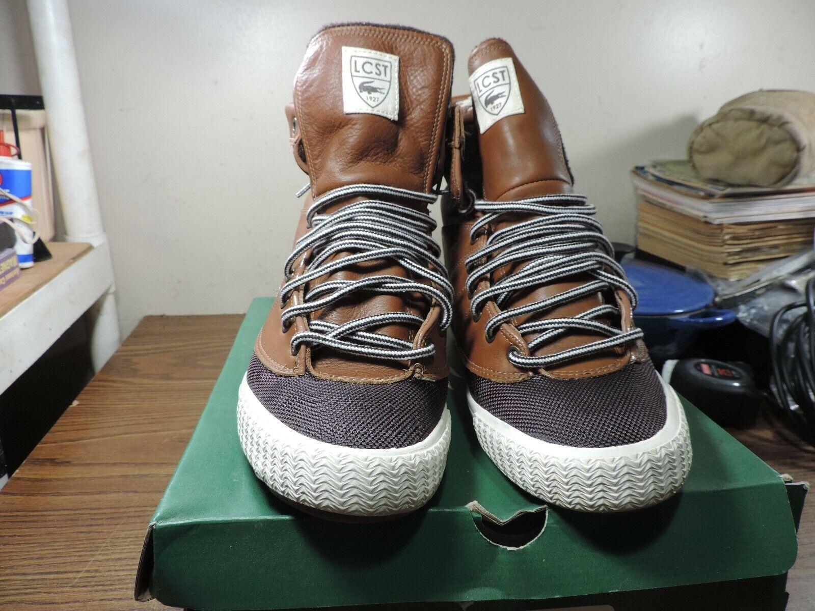 Lacoste Boots shoes Avignon MB SPM Brown DRK Brwn 7-23spm3206267 SZ 11