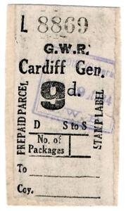 I-B-Great-Western-Railway-Prepaid-Parcel-9d-Cardiff