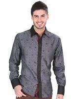 Camisa Vaquera El General Sleeve Shirt Size (l) Slim Fit El General Silver
