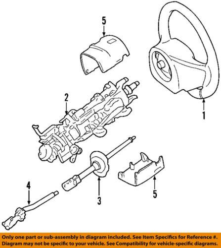 FORD OEM Steering Column-Lower Shaft 5W1Z3B676A