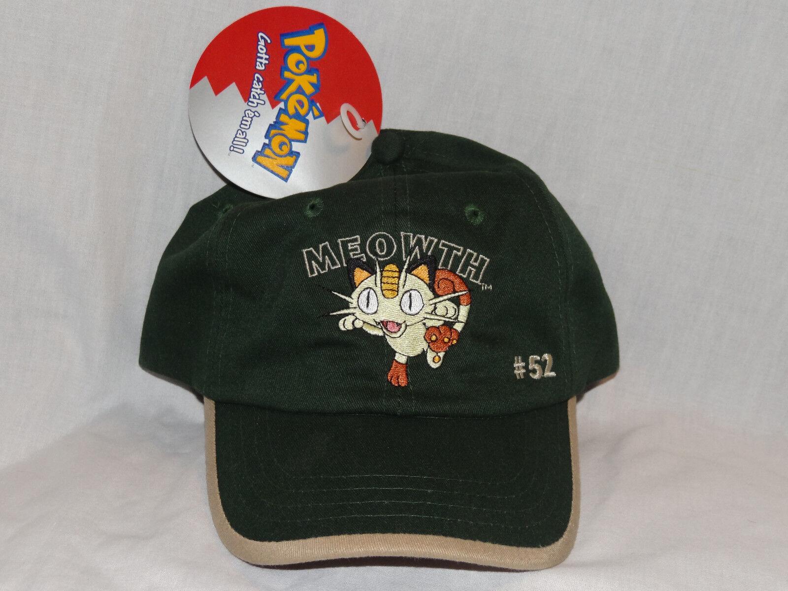 NEW WITH TAGS POKEMON CAP  CAP MEOWTH #52 OFFICIAL CAP POKEMON e5ae3c