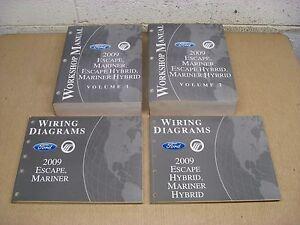 2009 09 Ford Mercury Escape Mariner Vol 1-2 Service Wiring ...