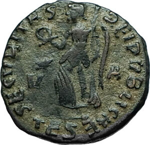 GRATIAN-379AD-Thessalonica-Authentic-Ancient-Roman-Coin-w-VICTORY-ANGEL-i66293