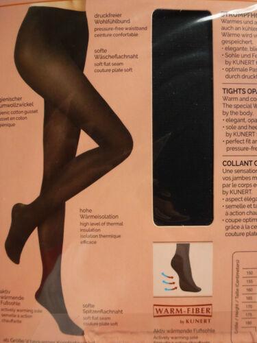 KUNERT Damen WARM UP 60 blickdichte Strumpfhose matt 60den hohe Wärmeisolierung