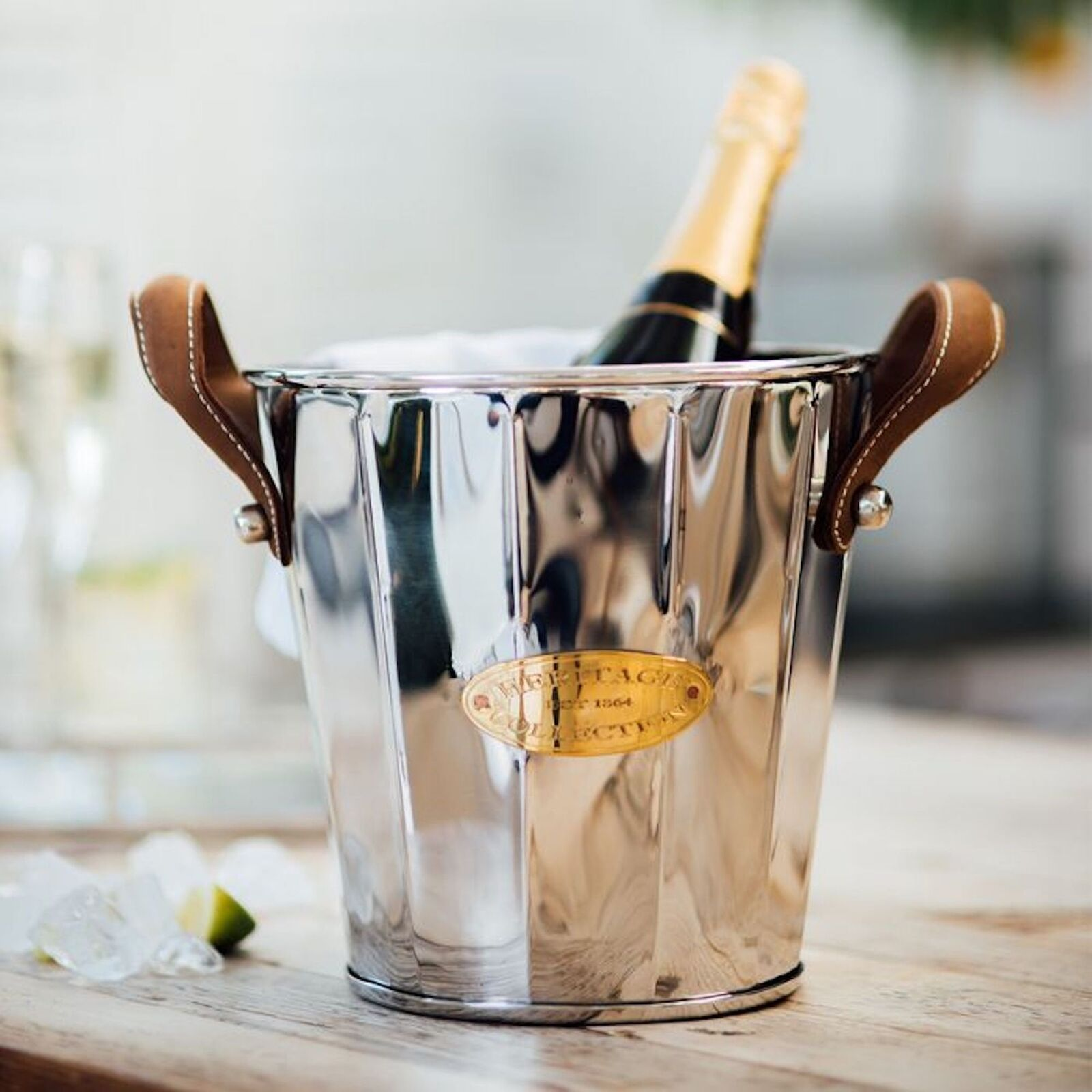 Culinary Concepts Heritage Leather Handled Wine Cooler
