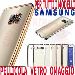 COVER-Pellicola-in-VETRO-Custodia-BUMPER-SILICONE-e-sottile-per-Samsung-Galaxy