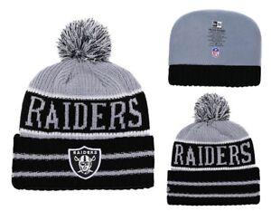 2018 Oakland Raiders New Era NFL Knit Hat On Field Sideline Beanie ... 09867ab4c8da