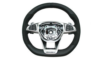 New-AMG-Steering-Wheel-Leather-Multifunction-Mercedes-W217-W176-C292-R231-W172