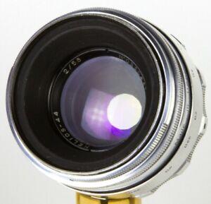 Helios-44-58mm-50mm-f-2-Zenit-lens-M39-M42-biotar-Canon-Silver-KMZ-13-blades