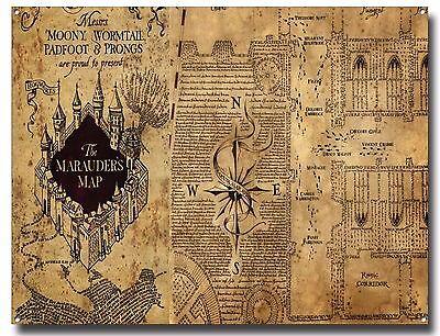 THE MARAUDERS MAP METAL SIGN POSTER, HARRY POTTER, HOGWARTS SCHOOL,  MAGIC,WANDS   eBay