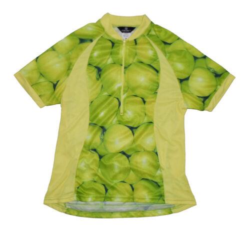 Canari Apples Short Sleeve Cycling Jersey MD Medium Women/'s Yellow Green New