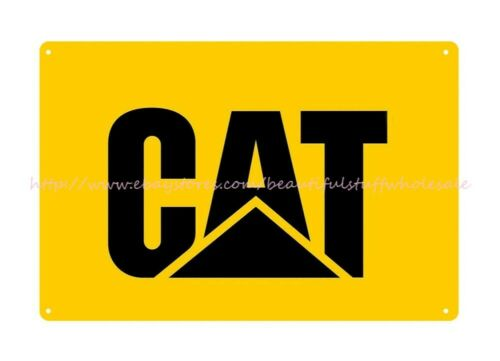 Catepillar CAT heavy equipment machinery farm metal retro tins sign