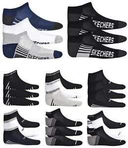Mens-Socks-Ankle-Trainers-Liner-Cushioned-Fitness-Cotton-Gym-Sports-3-Pairs