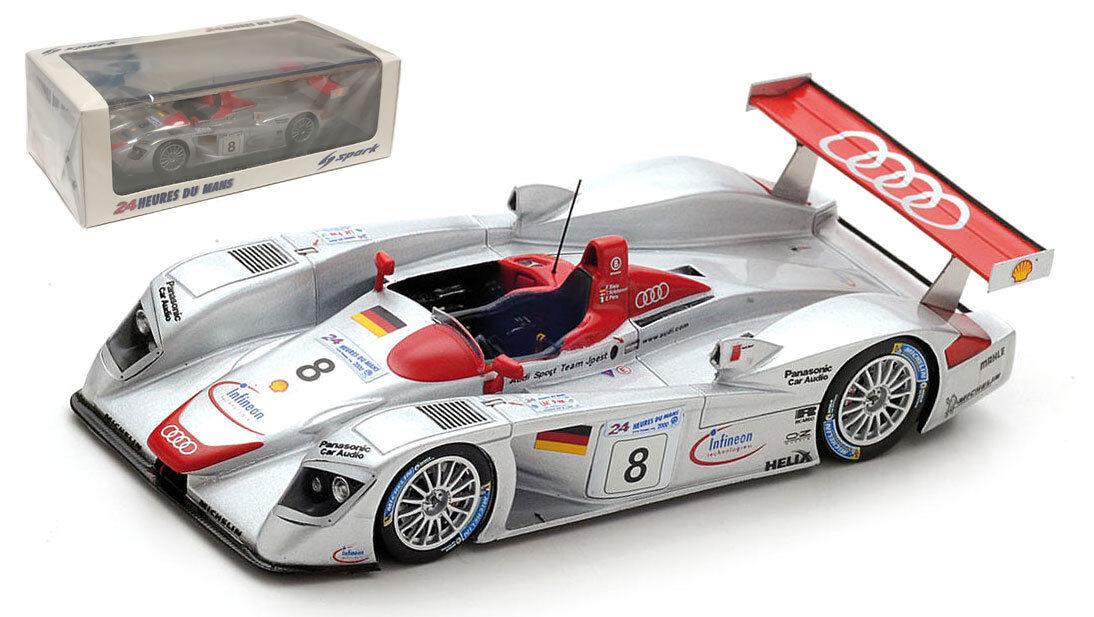 SPARK 43LM00 AUDI R8  8 'Audi Sport Team Joest Le Mans Winner 2000-échelle 1 43