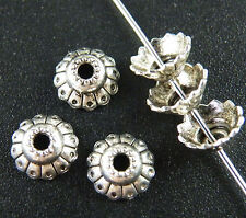 60pcs Tibetan Silver Pretty Flower Bead Caps 13x8mm ZN7324