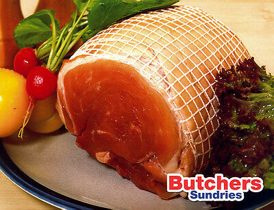 10m of White/White Butchers Roastable High Quality Meat Netting Large Tube